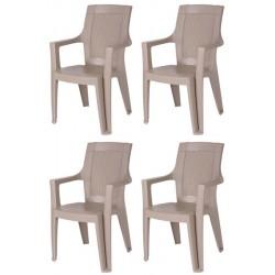 Set 4 stolov EMA mocca