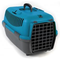 Transporter NOMAD 1 s plastičnimi vrati za mačke in pse moder