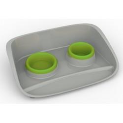 Set Stella za hrano in vodo zelena