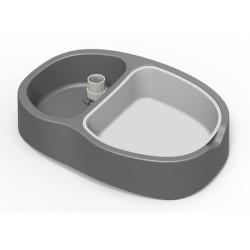 Dozirna posoda Stella plus za hrano in vodo siva