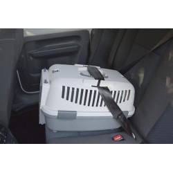 NOMAD 3 transporter s plastičnimi vrati za mačke in pse za v avto