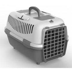 NOMAD 3 transporter s plastičnimi vrati za mačke in pse siv