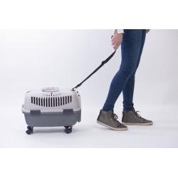 NOMAD 2 LUX transporter s kovinskimi vrati za mačke in pse s povodcem