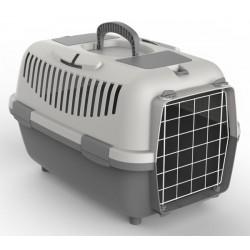 NOMAD 2 LUX transporter s kovinskimi vrati za mačke in pse siv